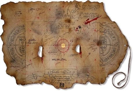 An ancient map of Atlantis discovered recently.