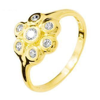 Buy our Australian made Cubic Zirconia Ring  Liquid Gold 7  - BEE-25157-CZ online. Explore our range of custom made chain jewellery, rings, pendants, earrings and charms.