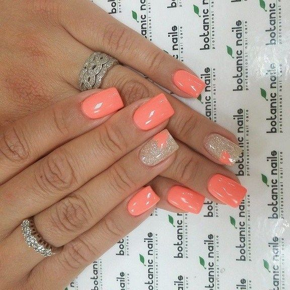 143 Amazing And Cute Nail Color 2019 15 With Images Coral