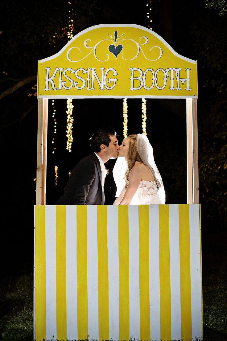 #Kiss Kissing Booth | Photography by nextexitphotography.com, Event Design by http://www.kristeenlabrotevents.com Read more - http://www.stylemepretty.com/2013/08/23/saddlerock-ranch-wedding-from-kristeen-labrot-events/