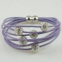/products/a1-shamballa-armband-flieder-mit-silber-strass-perlen-magnetverschluss/