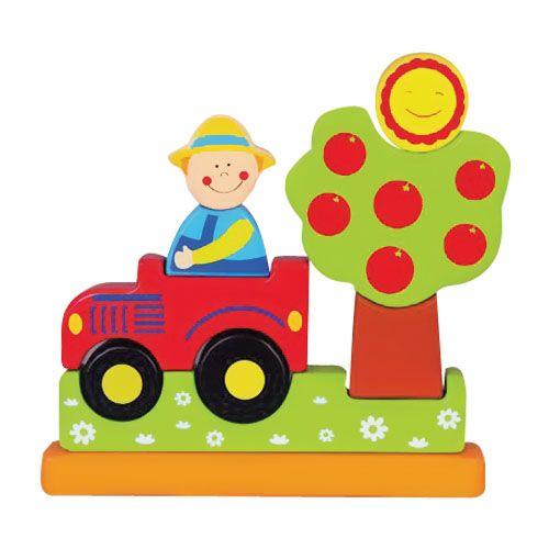O jucărie modernă deosebită este jucăria de lemn, care este și magnetică. Acesta este un puzzle magnetic cu totul ieșit din comun datorită faptului că se construiește vertical.