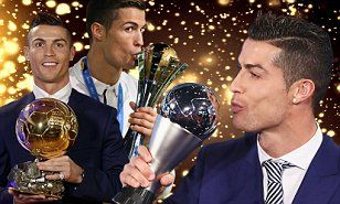 Cristiano Ronaldo couldn't resist a sly dig at Barcelona and his old nemesis Lionel Messi after winningThe Best FIFA Football Player award on Monday.
