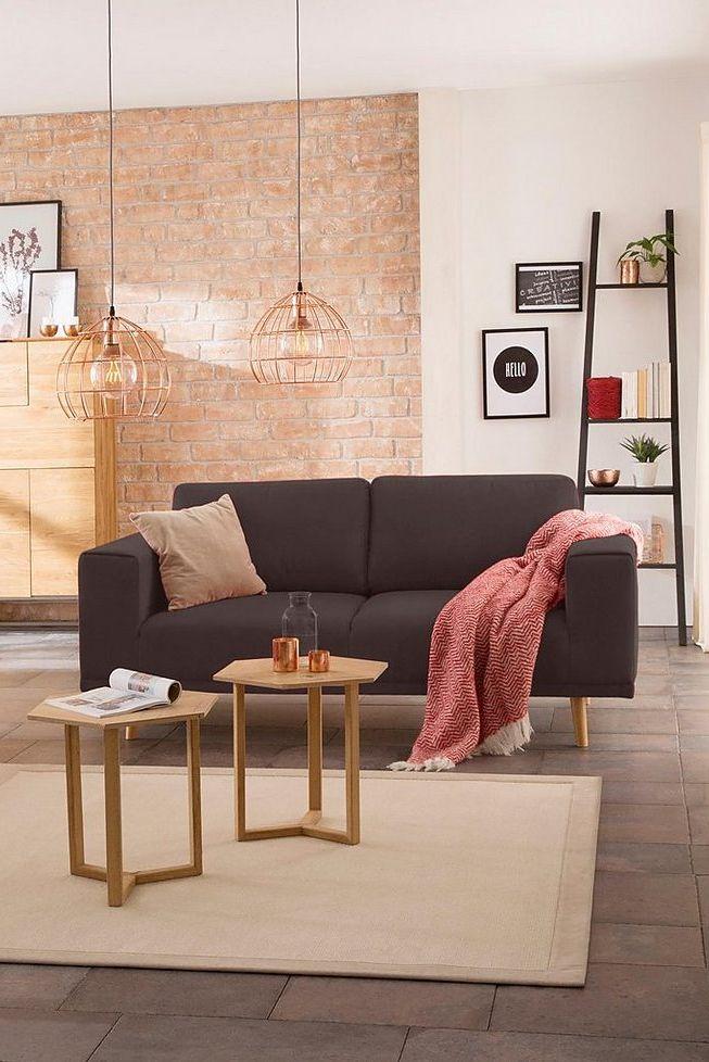 Home Affaire 2 Sitzer Lasse Im Scandinavischem Stil Mit Holzfussen