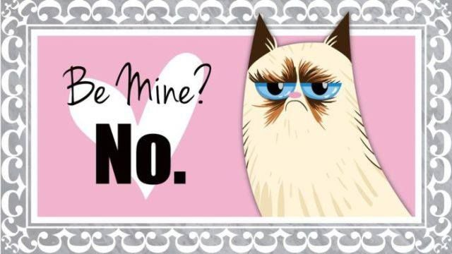 Grumpy Cat does not want to be yours on Valentine's