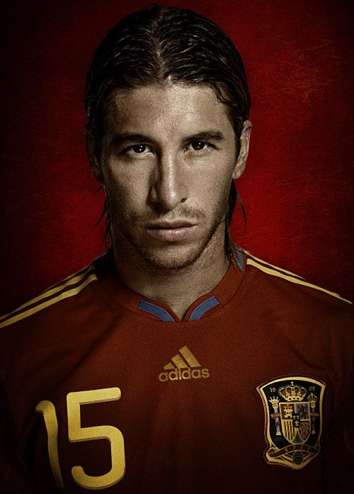 Sergio Ramos for the Spanish National Team. SO fierce.