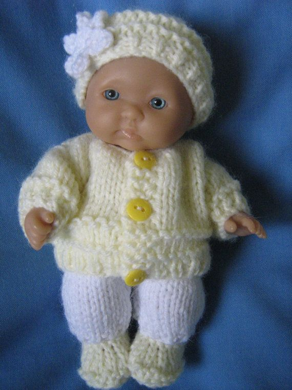 Hand Knitted Outfit for 5 Berenguer Dolls by DesignerDollsClothes, £6.50