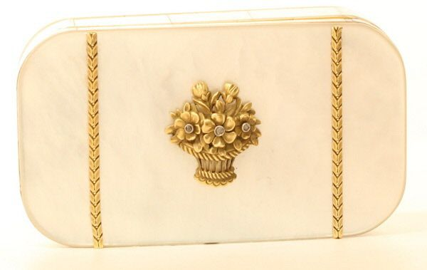 A Gold Lined Mother-of-Pearl Minidaure. French c1900