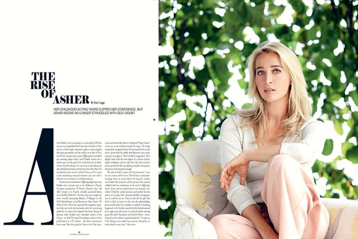 Asher Keddie Styled by me Photography by John Tsiavis