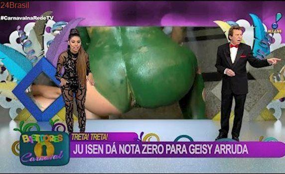 Bastidores do Carnaval: RedeTV! mostra o cu da musa das manifestações ao vivo