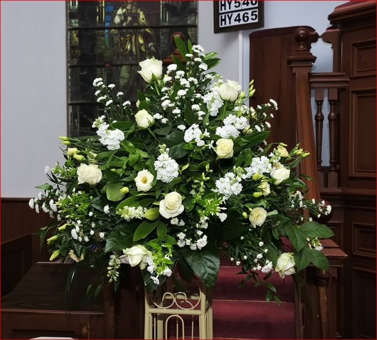 Wedding Altar Pedestal: Large Wedding Flower Arrangements For Church, Beautiful