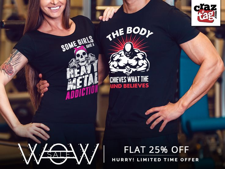 Be in love with your life, Every minute of it. Don't miss your workout together even on your weekends. Make it special by wearing Craztag's Exclusive gym wear. Buy now and grab 25% off only : https://goo.gl/9s0J6x