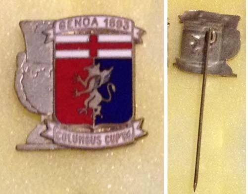 GENOA 1893 Columbus Cup 86, distintivo spillone stickpin calcio football soccer