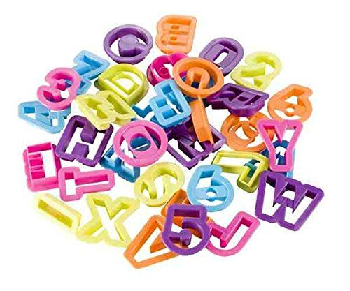 Alphabet and Numbers Cutters, 36 Pieces - Various Colours [version:x8.7] by DELIAWINTERFEL *** Get more discounts! Click the pin : Baking Accessories