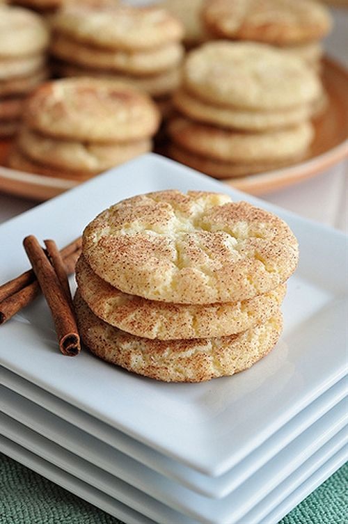 Snickerdoodle Cookies (used 3 cups flour, made 5 dozen using smallest ice cream scoop, they are AMAZING!)