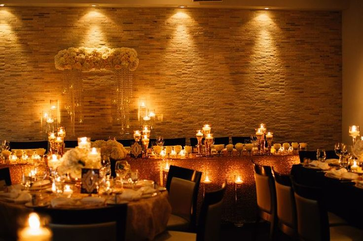 Reception by candlelight.