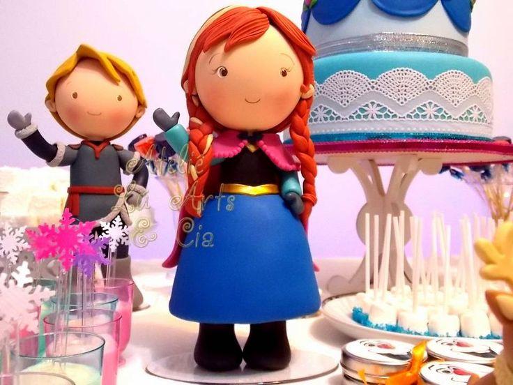 Lindos personagens que fiz em biscuit, para o aniversário da nossa filhinha em casa! Luciana Costa  Veja mais fotos no nosso blog! Ateliê Lú Artes e Cia