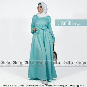 Gamis Jasmine Dress Ori Shofiya Longdress Maxi Balotelli