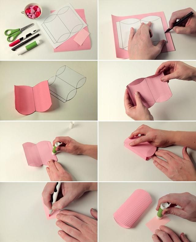 Valentines  Gift Wrapping Ideas | Homemade Valentine gifts - Cute wrapping ideas and small candy boxes