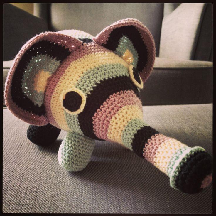 Crocheted Elephant.
