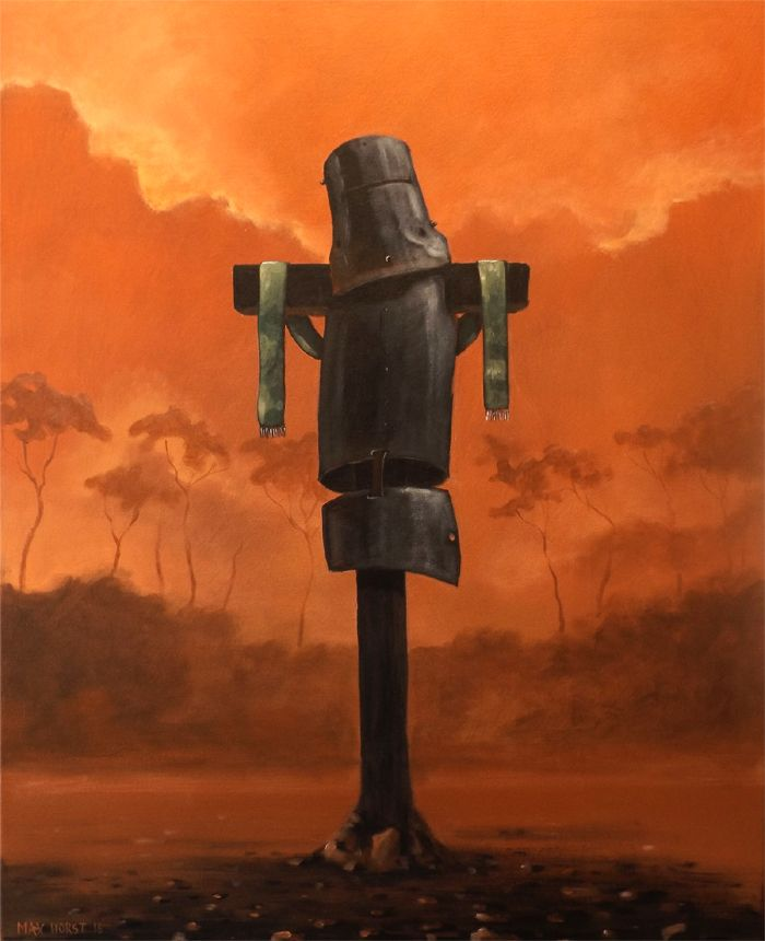 "Ned Kelly...."" Rust and dust """