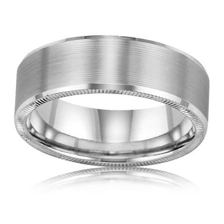 ArtCarved Men's Beveled Milgrain Band