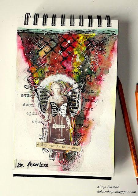 DEKORakcje: Fearless - art journal page