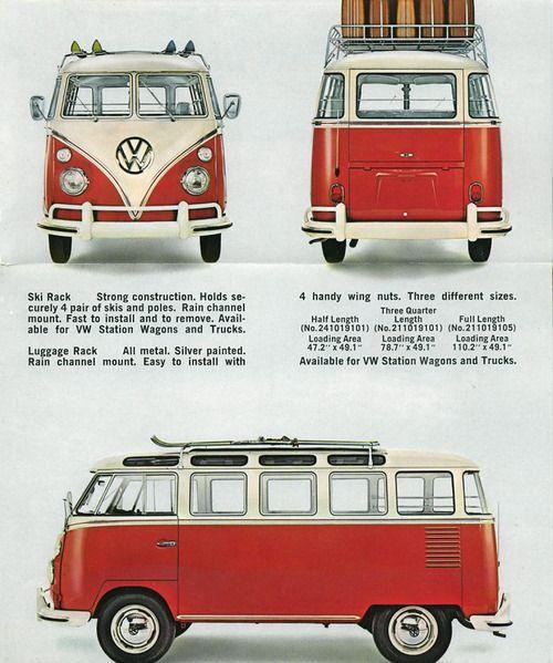 Volkswagen van with ski rack