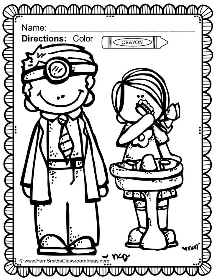 dental coloring pages for preschoolers - photo#14