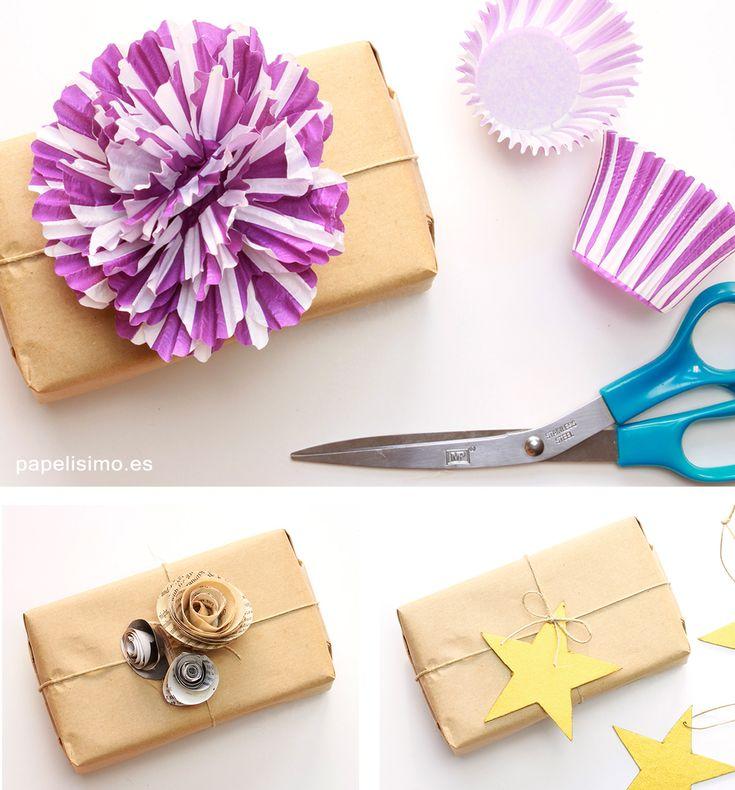 Envolver regalos originales con papel embalar papelisimo - Regalos envueltos originales ...