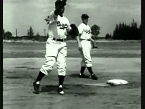 """""""Did You See Jackie Robinson Hit That Ball?"""" recorded by Woodrow Buddy Johnson & Count Basie (1949)."""