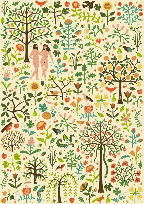 Harriet Seed's Adam & Eve - harrydrawspictures