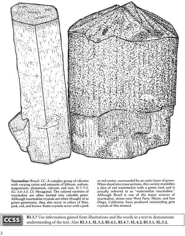 boost rocks and minerals coloring book dover publications