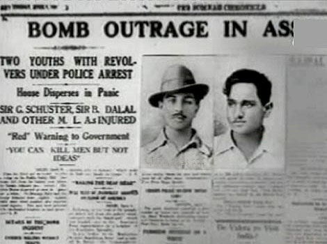 One of the seminal moments of the struggle for independence, the bombing of the Parliament on April 8, 1929 by Bhagat Singh and Batukeshwar Dutt strenghthened the cause.