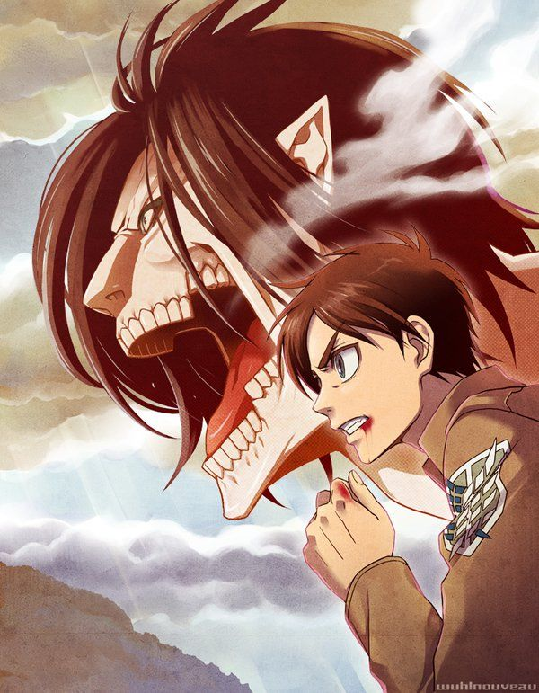 Eren Jaeger Titanes Anime Kyojin Shingeky