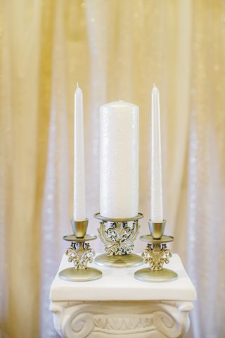 Champagne Wedding Unity Candle