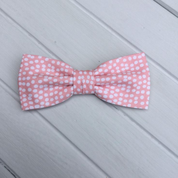 Mens Bow tie| Blush Pink Polka dot Pre tied Bow tie| Pocket Square Wedding Bow Tie| Men Women Boy Baby Children Bow tie Groom Groomsmen by GloiberryBowtie on Etsy https://www.etsy.com/uk/listing/538524427/mens-bow-tie-blush-pink-polka-dot-pre