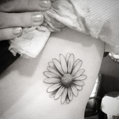 black and white tattoo daisy - Google Search                                                                                                                                                      More