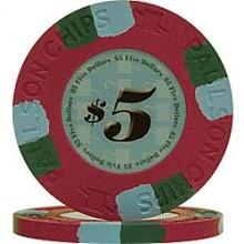 Paulson Classic Series Clay Poker Chips $5 @cardgameshop.com