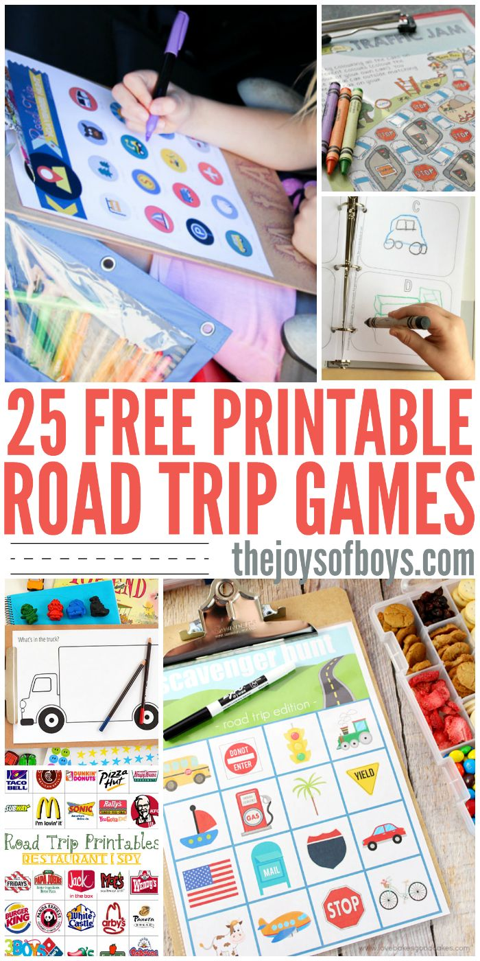 Traveling with kids can be so stressful!  These printable road trip games are a life saver on long road trips!