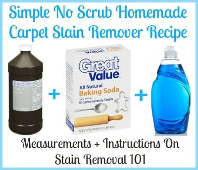Simple no scrub homemade carpet stain remover recipe {on Stain Removal 101}