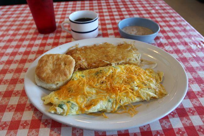 Benton Jimmys Diner by Kat Robinson veggie omelet