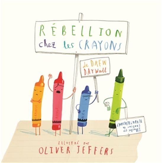 Les crayons de couleur se révoltent et demandent à leur jeune propriétaire de ne plus être prédisposés aux mêmes objets et illustrations.