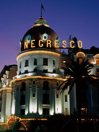 Hotel Negresco at Night, Nice, Provence-Alpes-Cote d'Azur, France