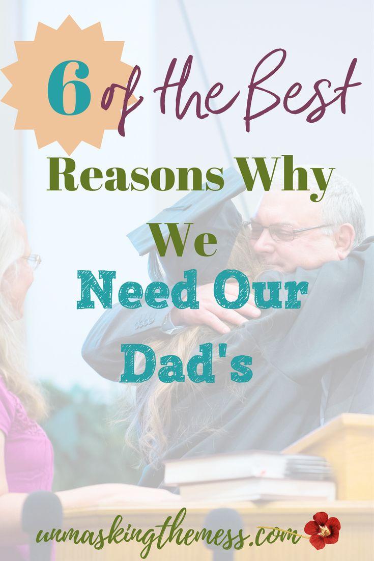 6 of the Best Reasons Why We Need Our Dad's. When Dad isn't present, statistics show effects. If our Dad is absent or emotionally unavailable it can affect our view of God. Our Heavenly Father is the ultimate role model for Dads.