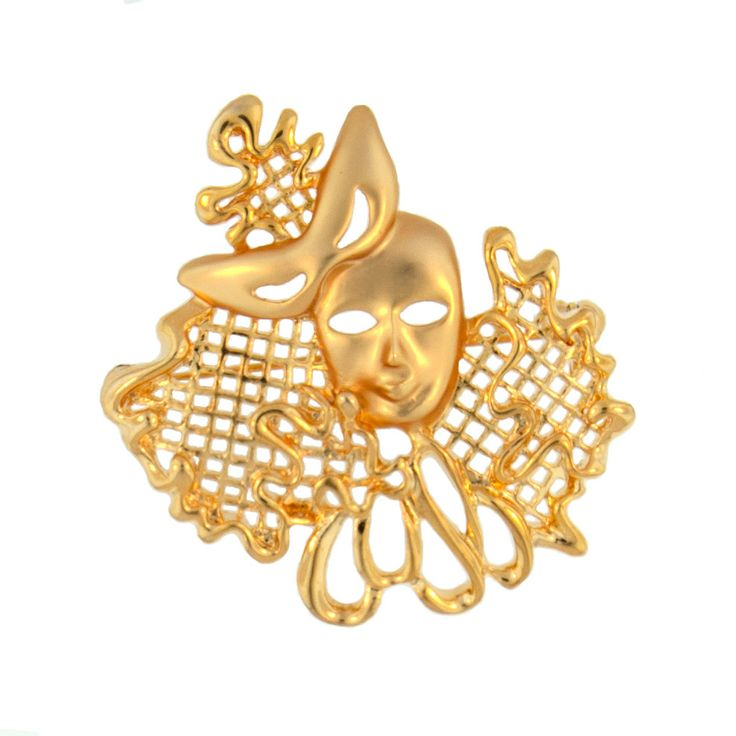 golden venetian opera mask brooch. perfect for music lovers. Now only $7