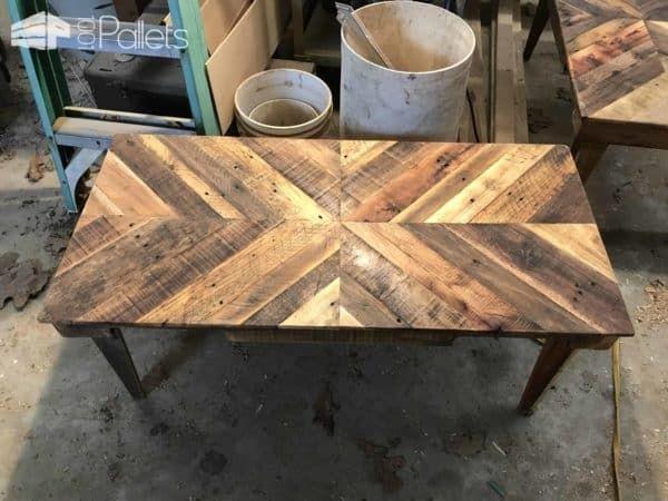 Wood Pallet Chevron Coffee Table Chevron Coffee Tables Coffee