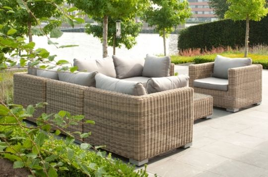 Tuinmeubelen Loungeset Neo wicker    Tuinhout   Tuinmeubelen   Pinterest   Dining sets and Wicker