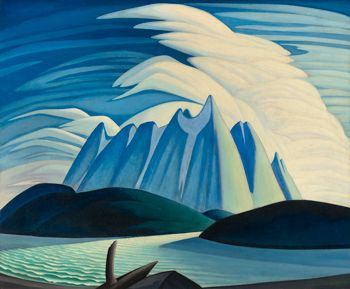 Lawren Harris, Lake and Mountains, 1928, oil on canvas. ©FAMILY OF LAWREN S. HARRIS/COURTESY MUSEUM OF FINE ARTS, BOSTON/ART GALLERY OF ONTARIO, GIFT FROM THE FUND OF THE T. EATON CO. LTD. FOR CANADIAN WORKS OF ART, 1948