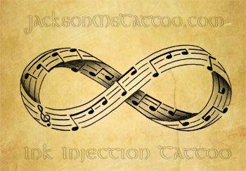 Infinity Music Note Tattoo Design by jacksonmstattoo on DeviantArt